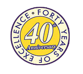 NMT 40th Year Anniversary logo