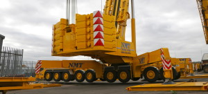 A pivoting crane from NMT Crane Hire
