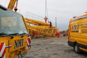 NMT van and crane on site