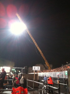 NMT Crane in use at a show