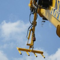 Close up heavy duty crane