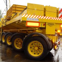 A picture of a heavy haulage trailer