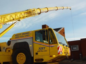 Large NMT Crane extended