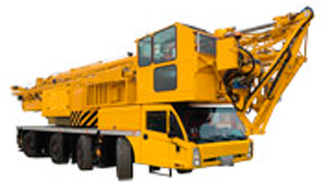 A picture of a Spierings 4 Axle mobile tower crane