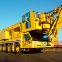 A picture of a Spierings 6 Axle mobile tower crane