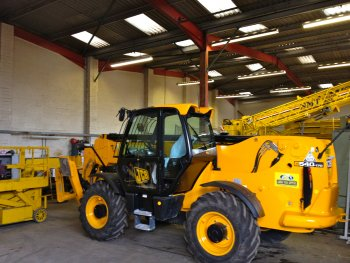 A picture of a telehandler
