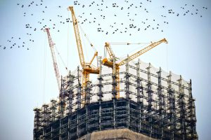A picture of a tower crane similar to those of NMT Crane Hire