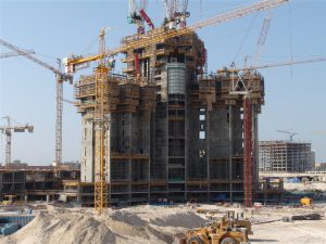 An image of the Burj Khalifa, the worlds tallest building, under onstruction