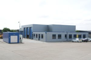 A picture of the new NMT Crane Hire depot