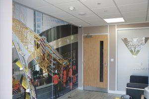 A picture of inside NMT Crane Hire's new offices
