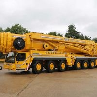 A picture of an NMT branded LIEBHERR crane hire
